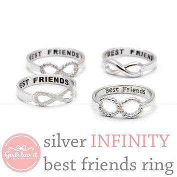 girlsluv.it - INFINITY - best friends ring, silver collection