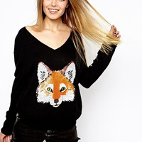 Wildfox White Label Fox Jumper