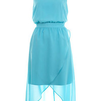 Wrap front midi dress - Dresses  - Apparel  - Miss Selfridge US