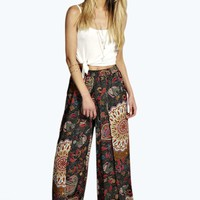 Meg Printed Wide Leg Trousers