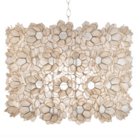 Worlds Away Rosette Chandelier