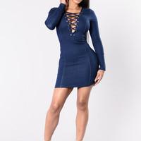 Control Your Body Dress - Dark Denim