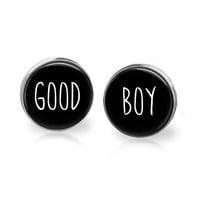 Good Boy BDSM Jewelry Fetish Attire Dungeon Attire Fetish Accessories BDSM Earrings LGBTQ Fetish Jewelry Gay Jewelry Dom Sub Jewelry Kinky