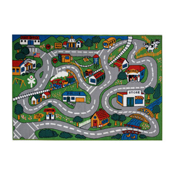 Fun Rugs Fun Time Collection Home Kids Room Decorative Floor Area Rug Country Fun -39X58