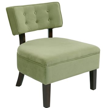 Office Star Spring Green Curves Button Accent Chair