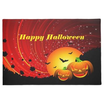 Happy Halloween, Pumpkins, Custom Doormat