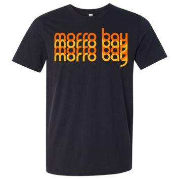Morro Bay Sunset Stack Asst Colors Mens Lightweight Fitted T-Shirt/tee