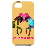 Hearts And Horse iPhone 5 Case from Zazzle.com