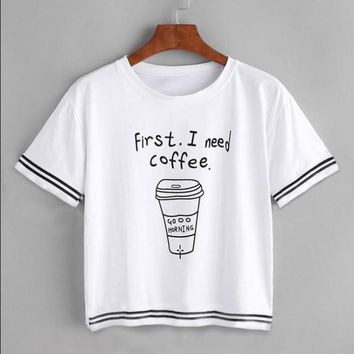 First I need Coffee Loose T-Shirt