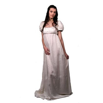 Desiree regency wedding dress, empire waist wedding dress, made to measure, jane austen wedding, sense and sensibility, pride and prejudice