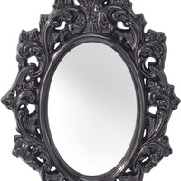 0-001625>Resplendent Oval Mirror Hi Gloss Black