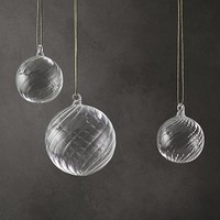 Artisan Handblown Glass Swirl Ball Collection