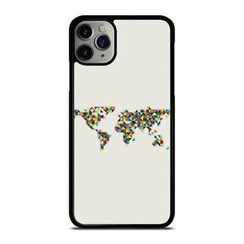 MINIMALISTIC WORLD MAP iPhone Case Cover