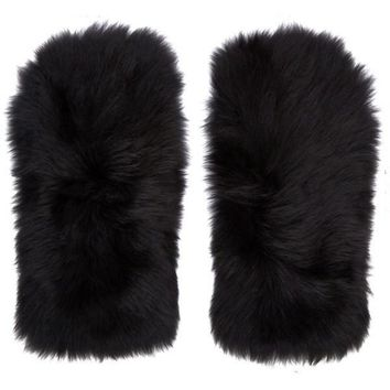 Shearling Fur Gloves by Marc Jacobs