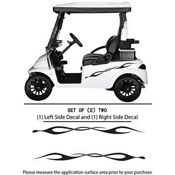 Golf Cart Vinyl Graphic Decals, Set of (2) TWO - STYLE F098