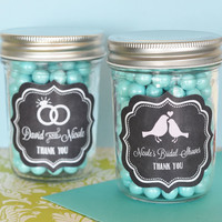 Personalized Chalkboard 8 oz Mason Jars