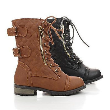 Shop Girls Combat Boots on Wanelo