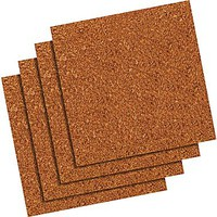 Quartet® 12 x 12 Natural Cork Tiles, Frameless, Modular, 4/Pack (102) | Staples