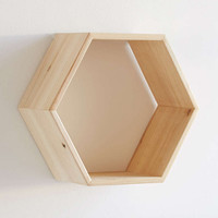 Honeycomb Wood Shelf - Urban Outfitters
