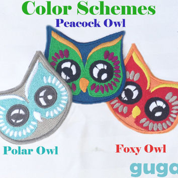 Owl Patch, Name Iron on, Birthday iron on, Name Patch, Personalized Patch, Child Patch, Baby Name, Baby Sew On. Baby Patch, Baby Iron On