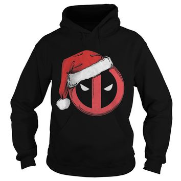 Marvel Christmas Deadpool Santa Hat Shirt Hoodie