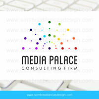 OOAK Premade Logo Design - Dotted Rainbow - Perfect for a social media manager or a marketing consulting company