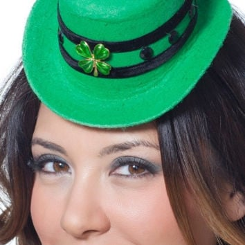 St Patricks Day Mini Hat