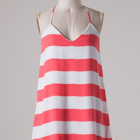 Out Yachting Dress - Coral