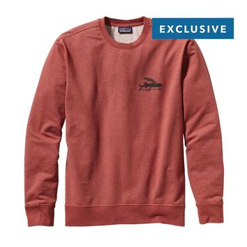 Patagonia Men's Flying Fish Midweight Crew Sweatshirt | Rusted Iron