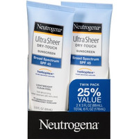 Neutrogena Ultra Sheer Dry-Touch Sunscreen Broad Spectrum SPF 45, 3 Fl. Oz, Pack of 2  f