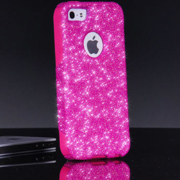 Otterbox iPhone 5/5S Case Custom Bubblegum Glitter Commuter Series Sparkly iPhone 5/5S Otterbox Cover