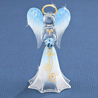 Blue Angel with Crystal Glass Figurine
