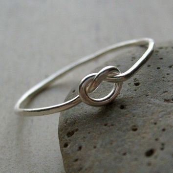 Love Knot Ring Fine Silver LOVE ME KNOT by shijewels on Etsy