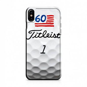 Titleist Golf Ball Print iPhone X Case