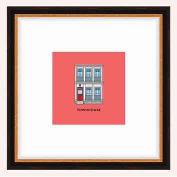Townhouse Framed Architecture Print