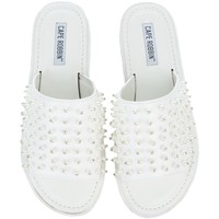 Cape Robbin Mandy-1 White Women's Slides