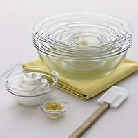 10-Piece Glass Nesting Bowl Set: 1.1 oz.-4.5 qt.