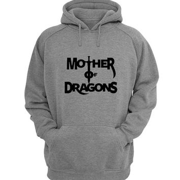 mother of dragon Hoodie Sweatshirt Sweater Shirt Gray for Unisex size with variant colour