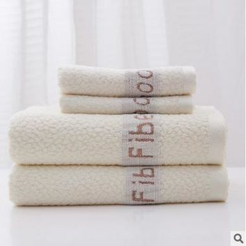 Bamboo fiber towel increase thickening soft water bath towel of towel beach towel jacquard short letters
