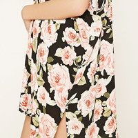 Rose Print Open-Front Cardigan | Forever 21 - 2000223595