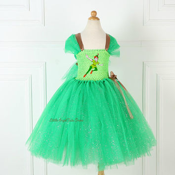 Peter Pan Inspired Tutu Dress. Handmade Tutu Dress. Birthday Party. Fancy Dress. Peter Pan Costume. Peter Pan Never Land Pirates. Fairy Tale