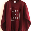 ADVENTURE Maroon Graphic Crewneck Sweatshirt