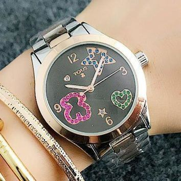 DCCKNQ2 TOUS Women Fashion Quartz Movement Wristwatch Watch-2