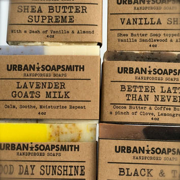 Your Choice of 9 Handcrafted Cold Process Soaps, Soap Set, Bath Soap Set, Father's Day Gift, Men's Soap, Unisex Soap