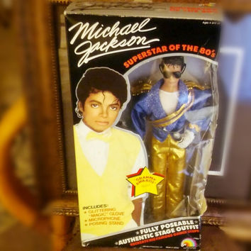 Vintage Michael Jackson Grammy Award Doll Mint in Box 80's