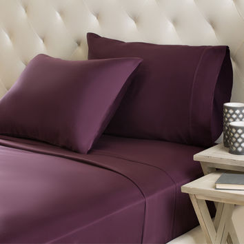 Luxor Treasures Egyptian Cotton Sateen 300-Thread-Count Machine-Washable Solid Sheet Set (As Is Item)   Overstock.com Shopping - The Best Deals on As Is