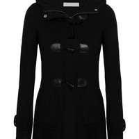 Long Sleeve Hooded Woolen Coat with Zip