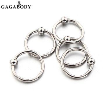 Christmas Lot 2Pcs 316L Surgical Steel Captive Bead Nose Rings 16 Gauge Body Piercing Nose Hoop 3mm Balls