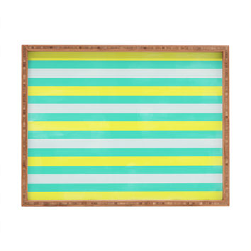 Allyson Johnson Bright Stripes Rectangular Tray