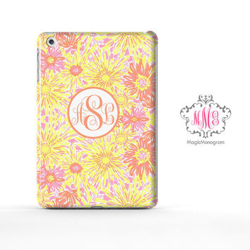 Yellow Sun Kissed Lilly Pulitzer Monogram iPad Air Case, iPad Mini Case